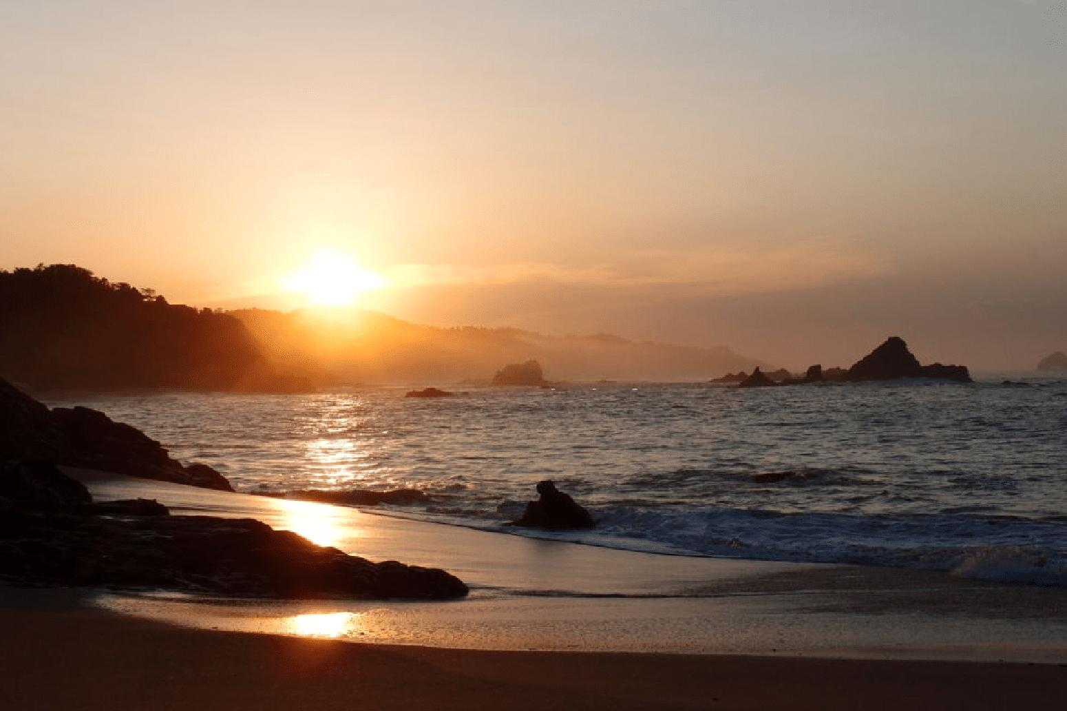 Mazunte es la playa más nadable de la zona.