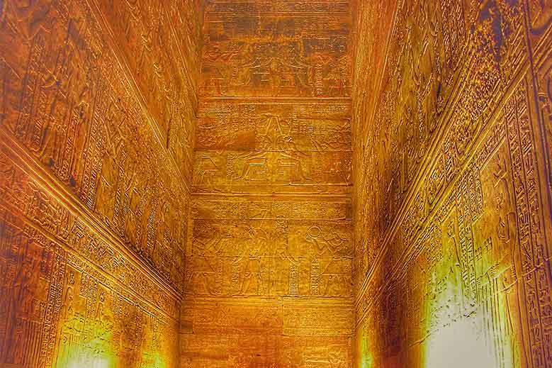 Las 7 leyes espirituales del universo - El Kybalión Hermes Trimegistro - Templo de Horus Edfú Egipto