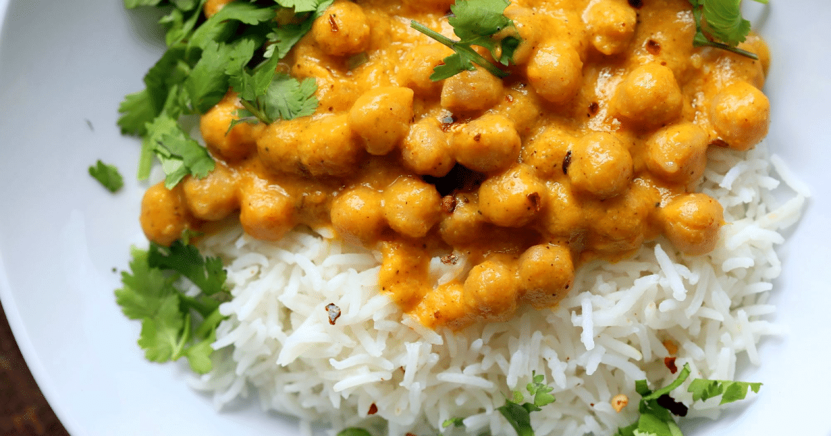 Garbanzos al curry de mango