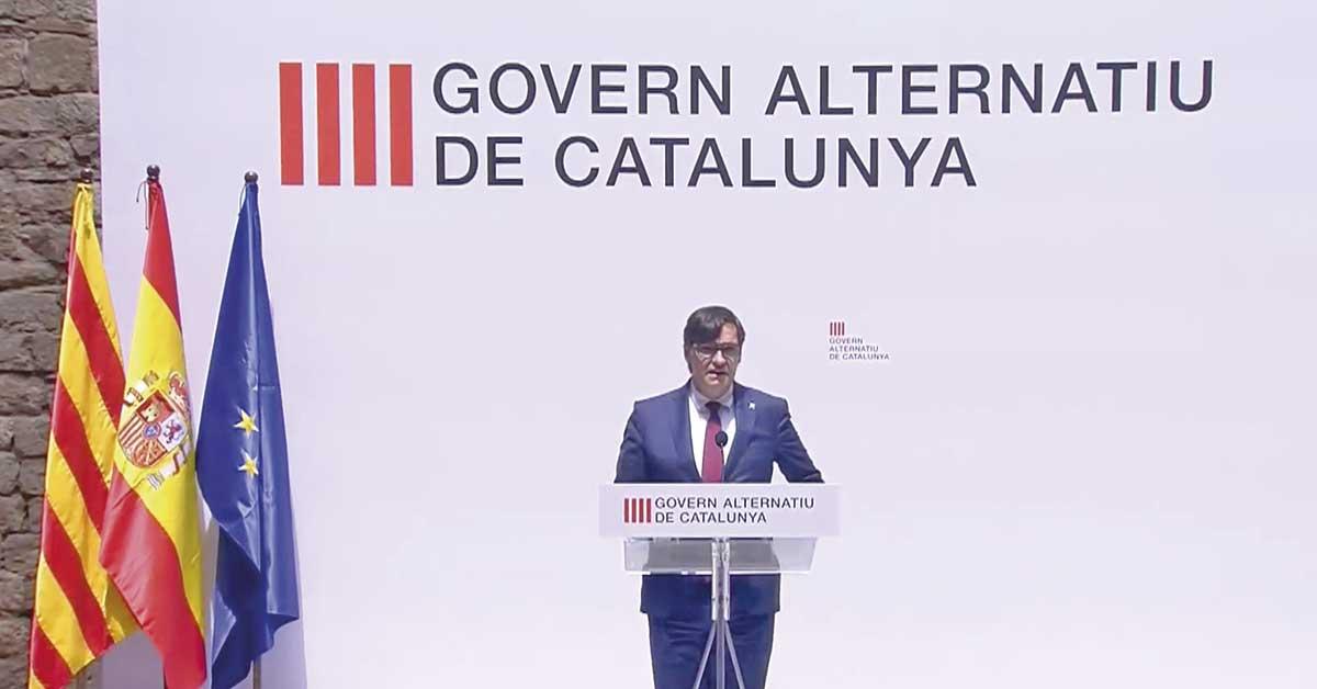 Salvador Illa presenta el Gobierno alternativo para Cataluña